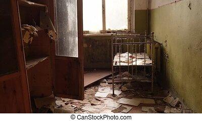 bébé, ville, lits camp, fantôme, abandonnés, exclusion, zone...