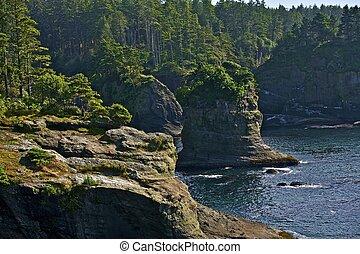 békés, tengerpart, sziklák