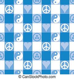 béke, pléd, alatt, csillogó blue