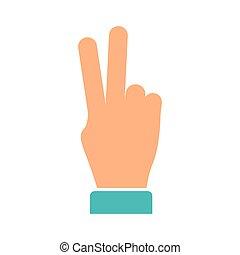 béke, szeret, emberi kezezés