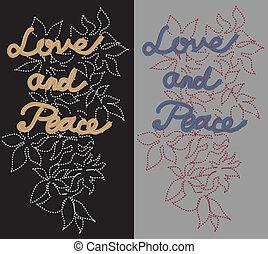 béke, szeret, folt