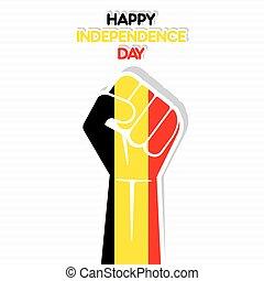 bélgica, día, independencia