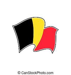 bélgica, flag., vector, bruselas