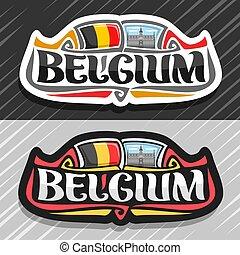 bélgica, logotipo, vector