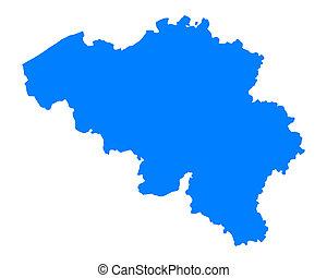 bélgica, mapa
