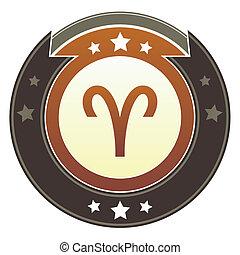 bélier, zodiaque, impérial, bouton