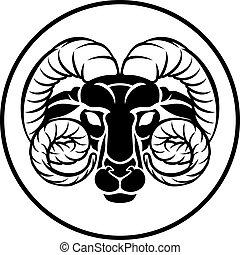 bélier, zodiaque, marteau, signe, astrologie
