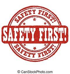bélyeg, biztonság, először