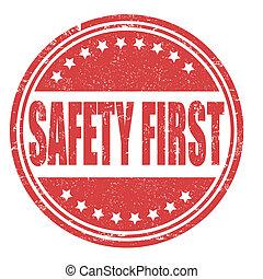 bélyeg, biztonság első