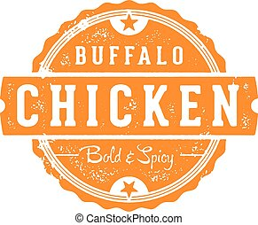 bélyeg, csirke, bivaly, étterem