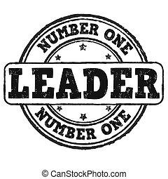 bélyeg, egy, szám, vezető