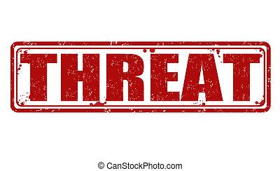 bélyeg, fenyegetés