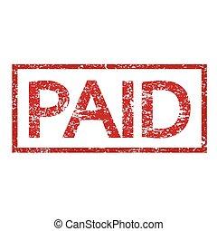 bélyeg, fizetve, szöveg