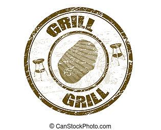 bélyeg, grill