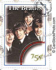 bélyeg, híres, beatles, csoport
