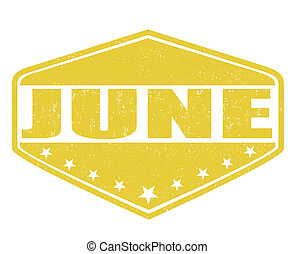 bélyeg, június