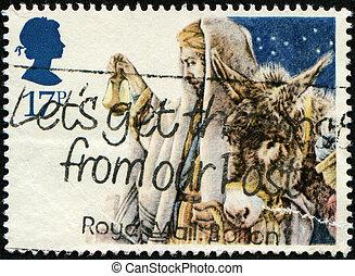 bélyeg, karácsony, köszönés