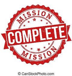 bélyeg, misszió, befejez