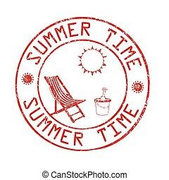 bélyeg, nyár, posta, idő