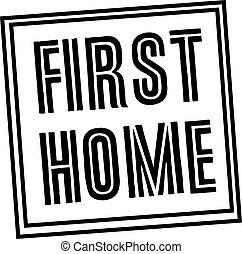 bélyeg, otthon, fehér, először