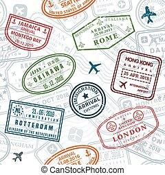 bélyeg, struktúra, útlevél