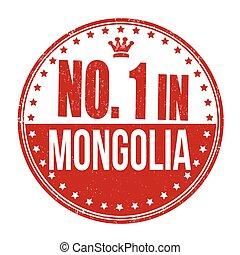 bélyeg, szám, mongólia, egy