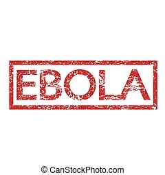 bélyeg, szöveg, ebola