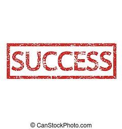 bélyeg, Szöveg, siker