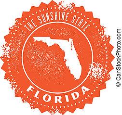 bélyeg, szüret, állam, florida