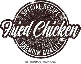 bélyeg, szüret, csirke, sült, étrend