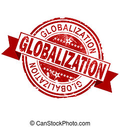 bélyeg, szüret, globalization, piros