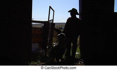 bétail, cowboys, troupeau
