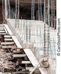 béton, escalier