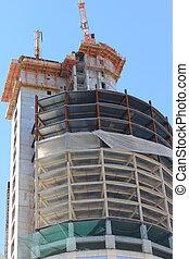 béton, highrise, site construction