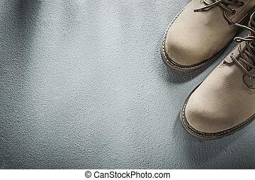 béton, sécurité, fond, bottes, imperméable