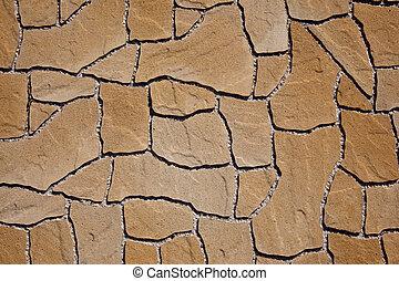 béton, trottoir, texture