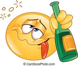 bêbado, emoticon