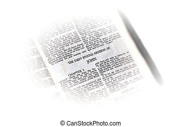 bíblia, abertos, para, john, vignette