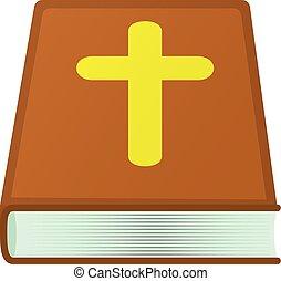 Icone Estilo Biblia Caricatura Teia Biblia Ilustracao Vetorial Icon Caricatura Icone