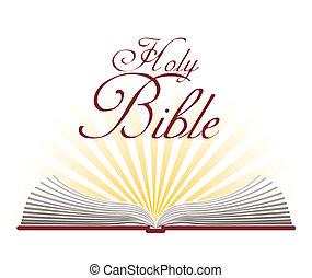 bíblia, desenho, santissimo