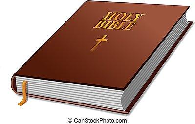bíblia, livro, santissimo