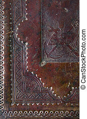 bíblia, século, cobertura, antiga, fundo, xix