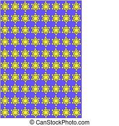bíbor, és, sárga, floral példa