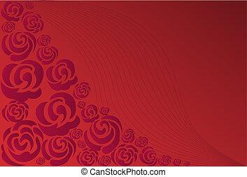 bíbor, agancsrózsák