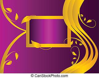 bíbor, floral tervezés, bölcsész, arany