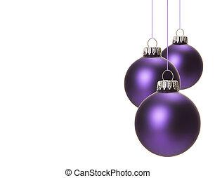 bíbor, karácsony, christmas baubles
