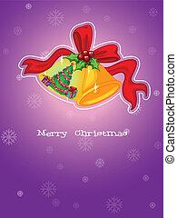 bíbor, sablon, háttér, karácsony