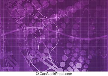 bíbor, tudomány, orvosi technology, elvont, futuristic