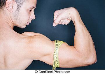 bíceps, medida