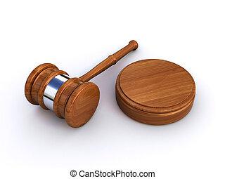 bíró, árverezői kalapács